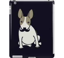 English Bull Terrier with Moustache - puppy dog iPad Case/Skin