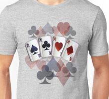 Four Aces and Suits Unisex T-Shirt