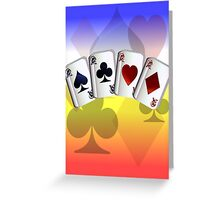 Four Aces and Suits Greeting Card