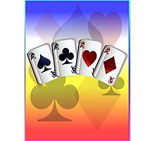 Four Aces and Suits Photographic Print