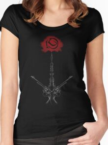 Rose and Tower Women's Fitted Scoop T-Shirt