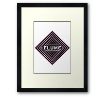 Flume psychedelic - white Framed Print