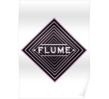 Flume psychedelic - white Poster