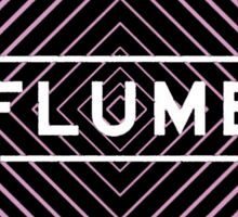 Flume psychedelic - white Sticker