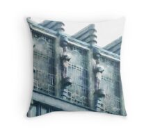 Singapore's Art Deco Style Building Throw Pillow
