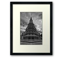 Stupa of HM King Suramarit and HM Queen Kossomak, Cambodia Framed Print