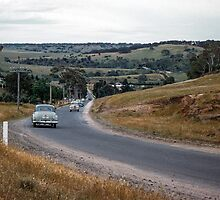 Road into Bulla 1956 12020000  by Fred Mitchell