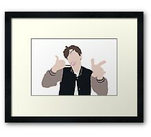 """Matthew Gray Gubler """"call me"""" Framed Print"""