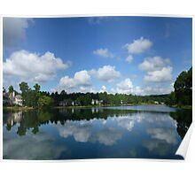Lake Cloud View Poster