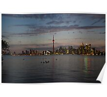 Toronto In The Evening Poster
