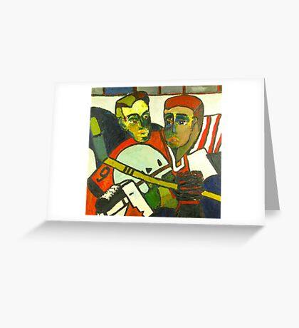 Hockey Players Greeting Card