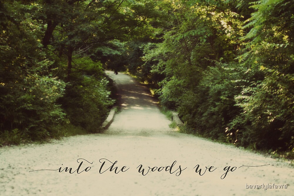 into the woods we go by beverlylefevre
