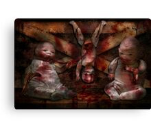 Macabre - Dolls - Having a friend for dinner Canvas Print