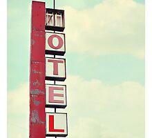 vintage motel Photographic Print