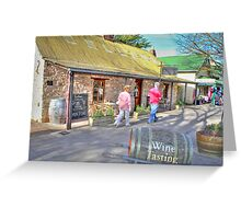 Hahndorf Wine Tasting Greeting Card