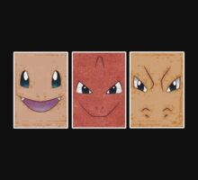 Charmander, Charmeleon & Charizard by dtdream