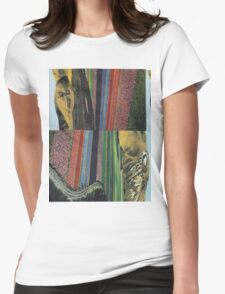 Striped Landscape Womens Fitted T-Shirt
