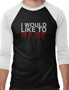 I WOULD LIKE TO RAGE! - Clean  Men's Baseball ¾ T-Shirt
