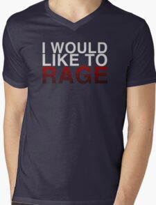 I WOULD LIKE TO RAGE! - Clean  Mens V-Neck T-Shirt