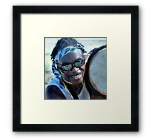 ...Plays The Drum For Money Framed Print