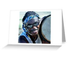 ...Plays The Drum For Money Greeting Card