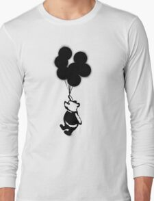 Flying Balloon Bear Long Sleeve T-Shirt