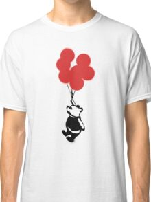 Flying Balloon Bear - Red Balloons Version Classic T-Shirt