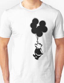 Flying Balloon Bear - Off Center Version Unisex T-Shirt