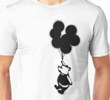 Flying Balloon Bear - Off Center Version Unisex T-Shirt