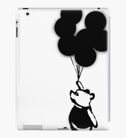 Flying Balloon Bear - Off Center Version iPad Case/Skin