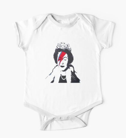 God Save The Queen Stencil One Piece - Short Sleeve