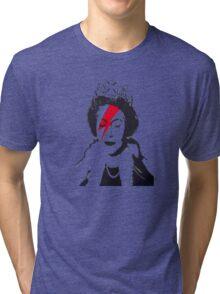 God Save The Queen Stencil Tri-blend T-Shirt