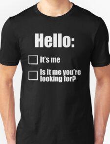 Hello - White  T-Shirt