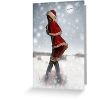 Mrs. Claus Zombie Pinup Greeting Card