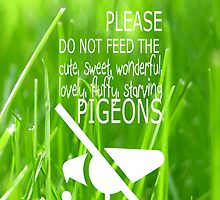 Do not feed the cute pigeons by AltheeaAdebisy
