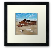 A Slow Death In Piano Valley SQ Framed Print