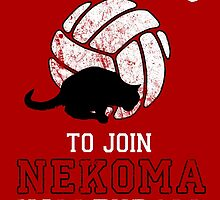 Training to join Nekoma Volleyball Club by ShadowFallen