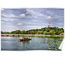 Beihai park in Beijing, China. Poster