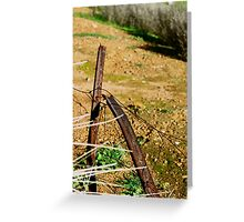 Rusted Star Pickets Greeting Card