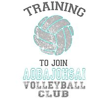 Training to join Aobajohsai Volleyball Club Photographic Print