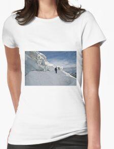climbing weissmies Womens Fitted T-Shirt