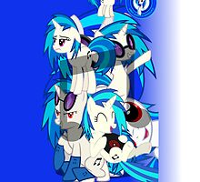 Vinyl Scratch Phone cover by Legolord99