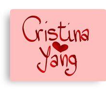 Heart Cristina Yang Canvas Print