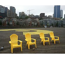 Seattle Waterfront Mourning Yellow Photographic Print
