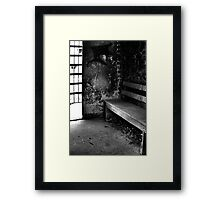 Waiting Out The Time Framed Print