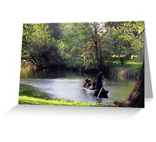 Punting in the Evening Greeting Card