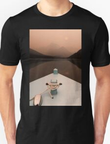 Grinnell Glacier and Lake Josephine. Unisex T-Shirt