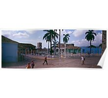 Plaza Mayor, Trinidad Cuba. Poster