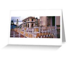 Plaza Mayor, Trinidad Cuba. Greeting Card
