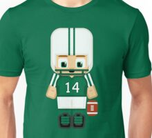 American Football Green and White Unisex T-Shirt